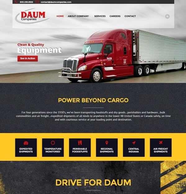 Trucking Web Design