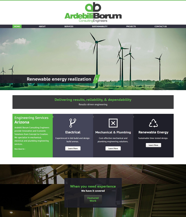 Engineering website design bgs web design for Design and engineering companies
