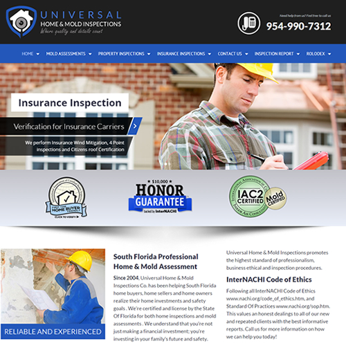 Home Inspection Web Design