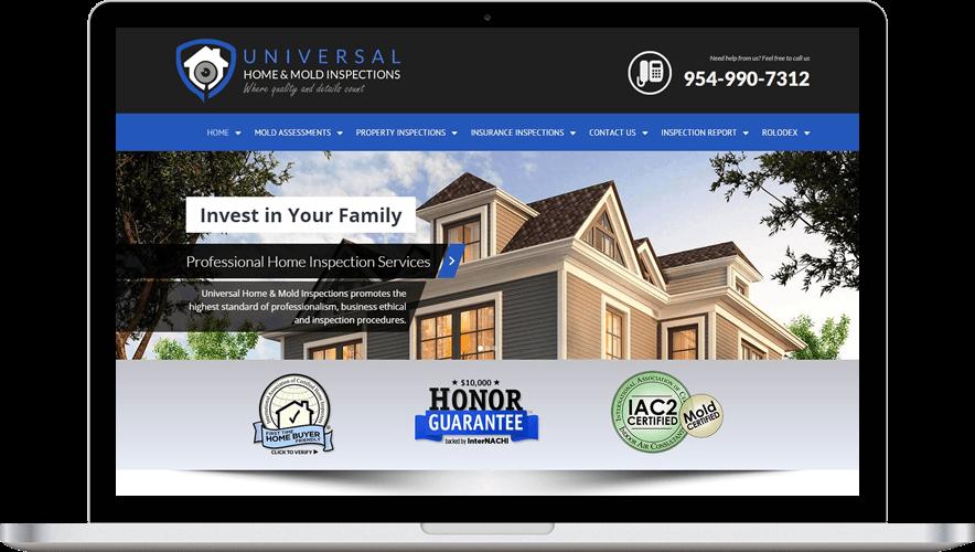 Professional Home Inspection Web Design