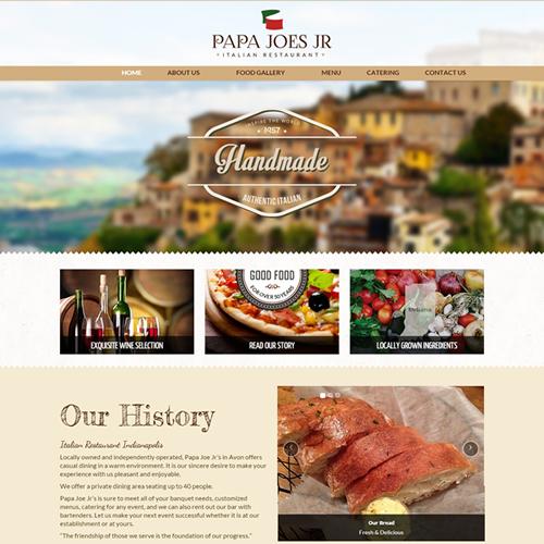 Italian Restaurant Web Design