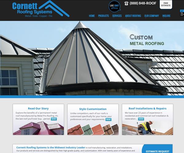 Roofing Web Design