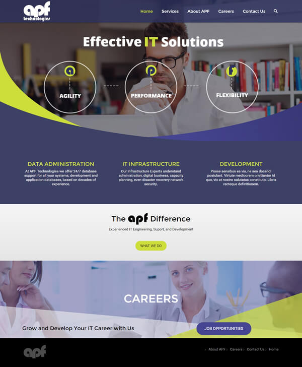 Technology Company Website Design