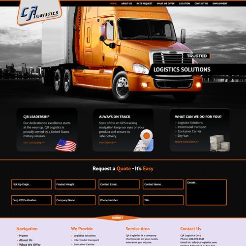 Logistics Web Design – Trucking