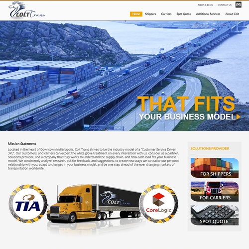 Trucking 3PL Services Website