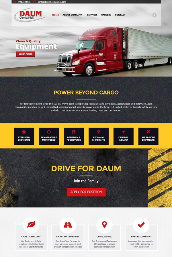 Best Trucking Web Design
