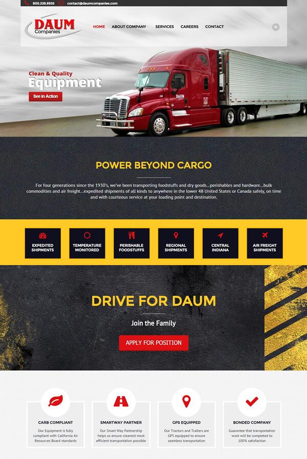 Best Trucking Web Design