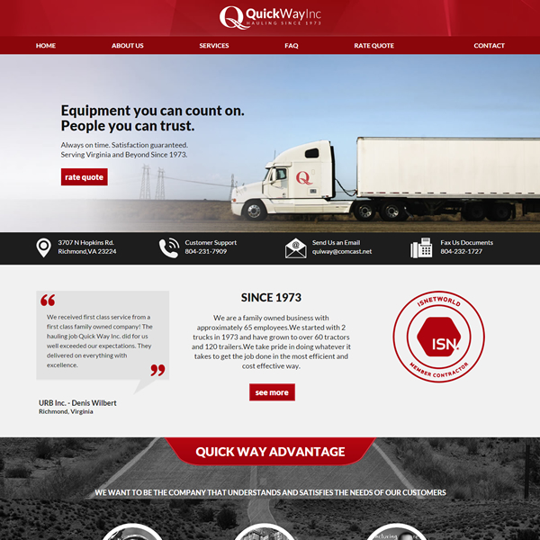 trucking-web-designs